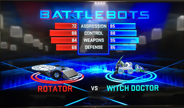 BattleBots Witch Doctor versus Rotator