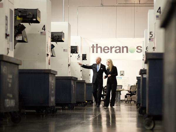 While visiting Silicon Valley, Biden got a personal tour of the Theranos facility. Image courtesy of Theranos.
