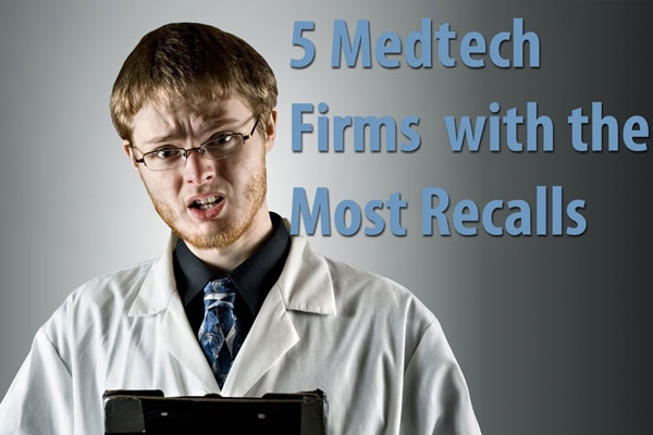 medtech firms with most recalls