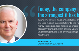 Abbott CEO Miles White Will Step Down in 2020