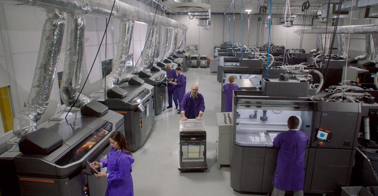 fleet of HP Multi Jet Fusion printers used by Smile Direct Club