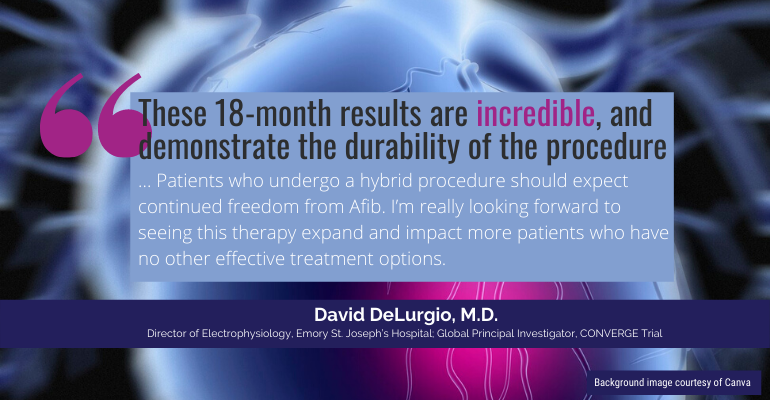 New Atrial fibrillation procedure