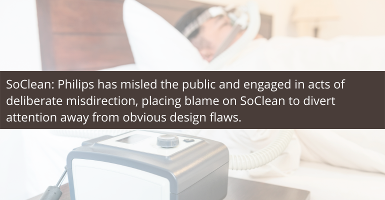 SoClean lawsuit against Philips over CPAP recall
