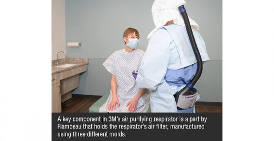 Flambeau Produces Component for 3M Respirator and More Supplier News