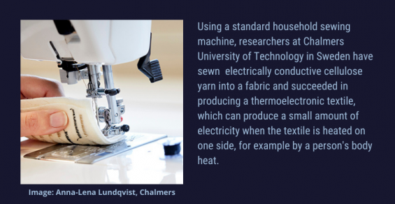 Answering the Call for Renewable Materials for Electronic Textiles
