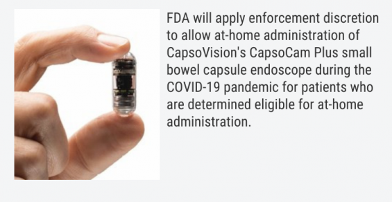 FDA Will Allow At-Home Administration of Capsule Endoscope During COVID-19