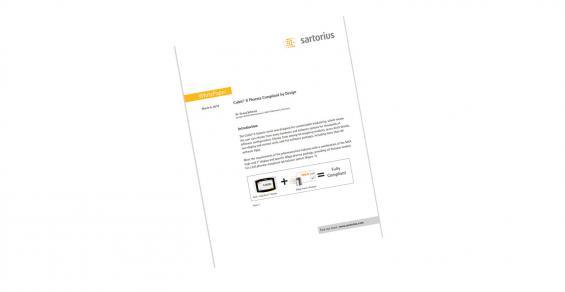 Cubis® II Balances - Pharma Compliant by Design